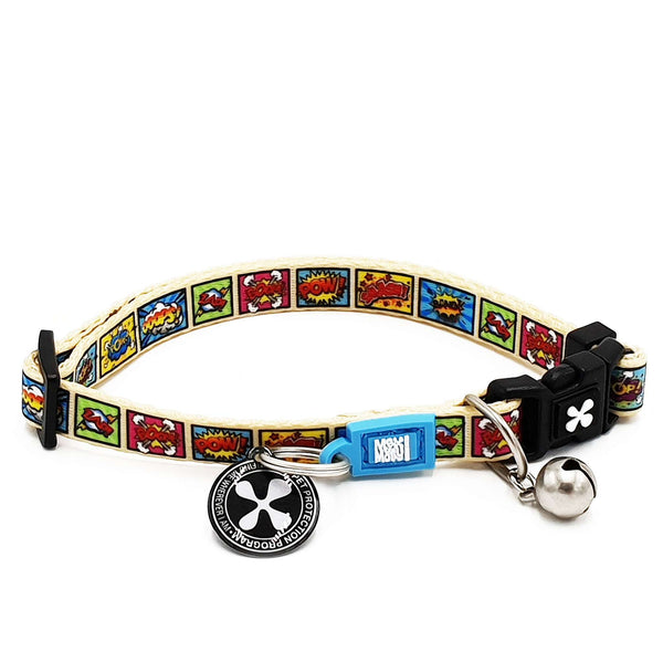 Smart ID Cat Collar - Comic - Max & Molly Urban Pets