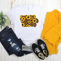 Iowa Leopard Sunflower Sublimation Transfer