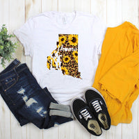 Rhode Island Leopard Sunflower home Sublimation Transfer