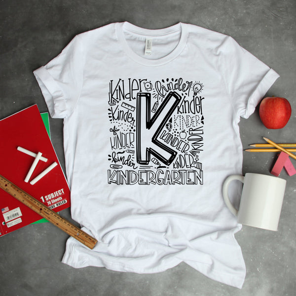 Kindergarten Typography Word Art Sublimation transfer