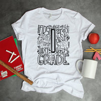 First Grade Typography Word Art Sublimation Transfer