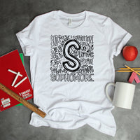 Sophomore Typography Word Art Sublimation Transfer