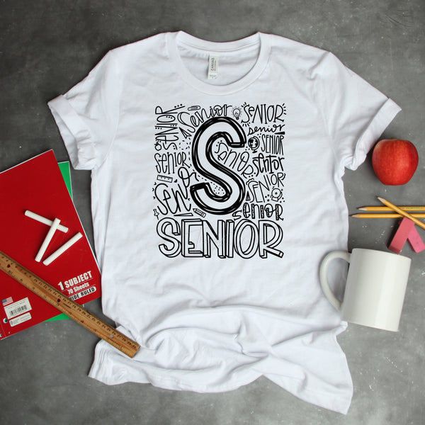 Senior Typography Word Art Sublimation Transfer