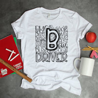 Bus Driver Typography Word Art Sublimation Transfer