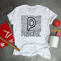 Principal Typography Word Art Sublimation Transfer