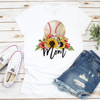Floral Baseball Mom Sublimation Transfer