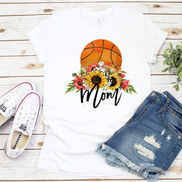 Floral Basketball Mom Sublimation Transfer
