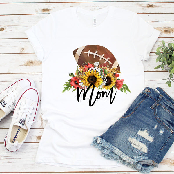 Floral Football Mom Sublimation Transfer