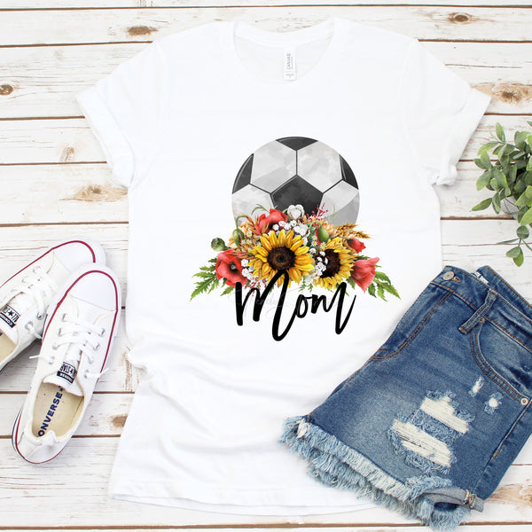 Floral Soccer Mom Sublimation Transfer
