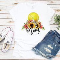 Floral Tennis Mom Sublimation Transfer