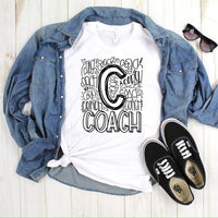 Coach typography Sublimation Transfer