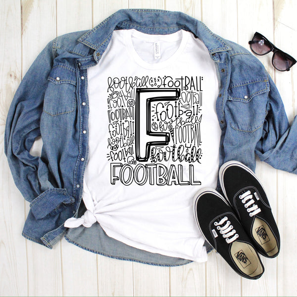Football typography Sublimation Transfer