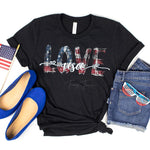 Love USA Print Heat Transfer