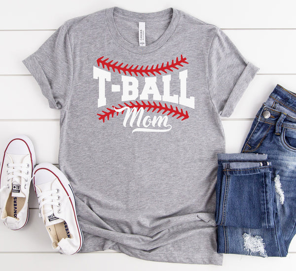 T-Ball Mom  Screen Print Heat Transfer