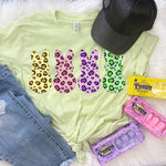 Leopard Peeps Screen Print Heat Transfer