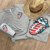 Patriotic Tongue Screen Print Heat Transfer