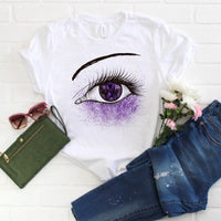 Purple Ribbon Awareness Glitter Eye Sublimation Transfer
