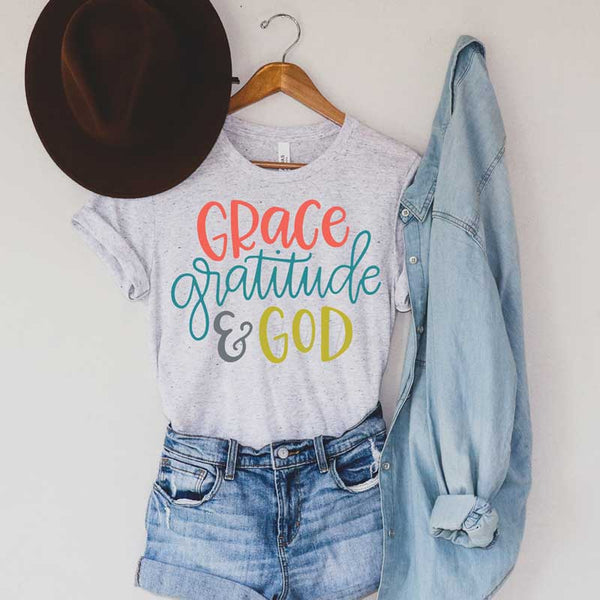 Grace Gratitude & God Sublimation Transfer