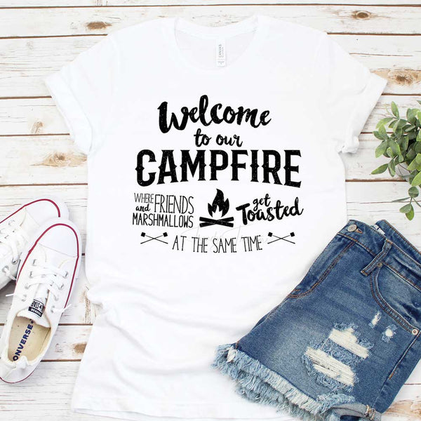 Welcome To Our Campfire Sublimation Transfer