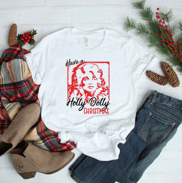 Have A Holly Dolly Christmas Sublimation Transfer