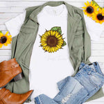 Sunflower Drawing Sublimation Transfer