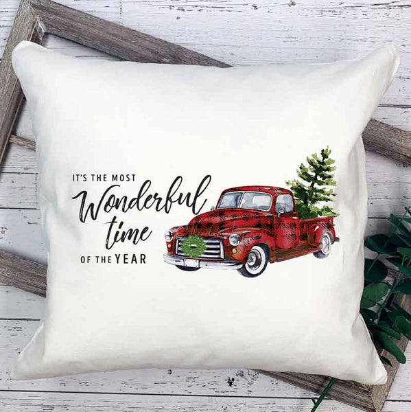 It's The Most Wonderful Time Christmas Truck Sublimation Transfer