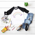 Sing A Song Lyric Rainbow Sublimation Transfer