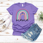 MAMA Rainbow Screen Print Heat Transfer