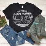 Support Your Local Farmer White Screen Print Transfer