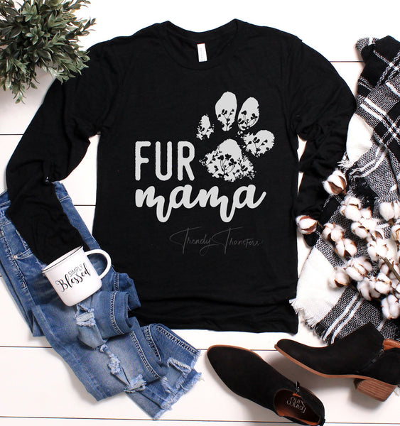 Fur MaMa Screen Print Heat Transfer