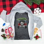 Youth Merry Christmas Jeep Screen Print Heat Transfer
