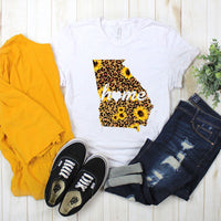 Georgia Home Leopard and Sunflower Sublimation Transfer