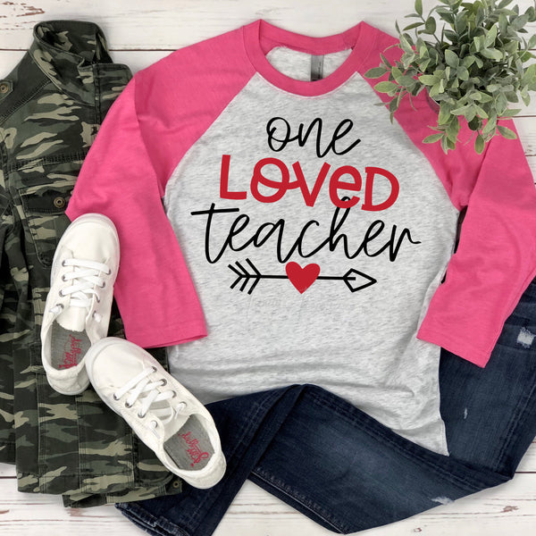One Loved Teacher Valentine Sublimation Transfer