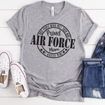 Proud Air Force Mom Military Screen Print Heat Transfer