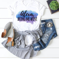 Alexa Bring Me Wine Sublimation Transfer