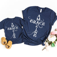 Amazing Grace YOUTH Screen Print Heat Transfer