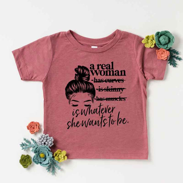 A Real Woman YOUTH Print Heat Transfer