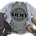 Proud Army Dad Military Screen Print Heat Transfer