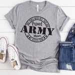 Proud Army Mom Military SHIPS 2/26 Screen Print Heat Transfer