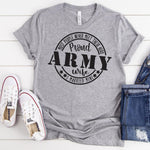 Proud Army Wife Military Screen Print Heat Transfer