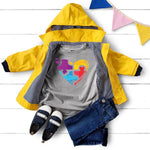 Puzzle Heart Autism Awareness YOUTH Screen Print Heat Transfer