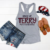 Back Up Terry Funny Patriotic Sublimation Transfer