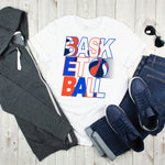 Basketball Word Art Sublimation Transfer