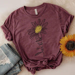 Let It Be Daisy ADULT Screen Print Heat Transfer