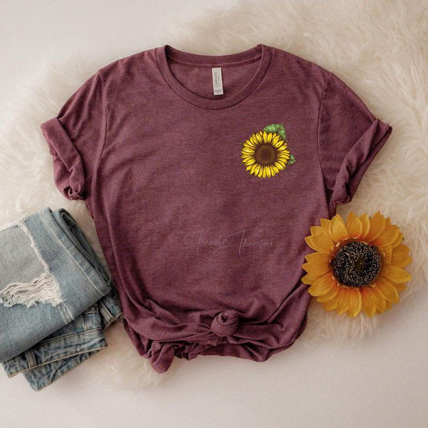 Sunflower Pocket Screen Print Heat Transfer