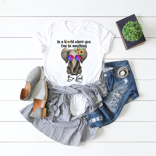 Baby elephant Be Kind Sublimation Transfer