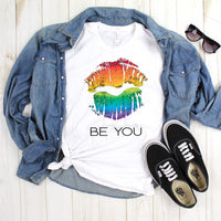 Be You Rainbow Lips Pride Sublimation Transfer