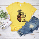 In A World Full Of Apples Be A Pineapple Screen Print Heat Transfer