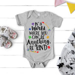 Be Kind Autism Awareness Infant Screen Print Heat Transfer