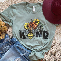 Bee Kind Screen Print Heat Transfer